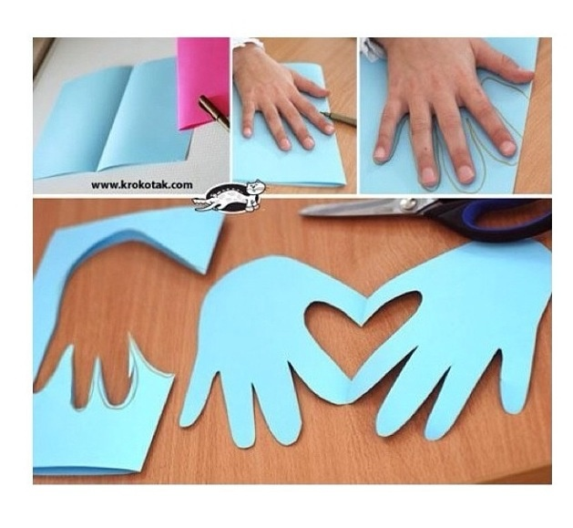 •Cute Heart/Hands Card • great idea for Mother's Day!