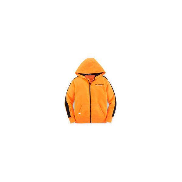 Fleece Full-Zip Hoodie ❤ liked on Polyvore featuring tops, hoodies, orange hoodie, hooded sweatshirt, hoodie top, fleece hoodies and fleece hooded sweatshirt