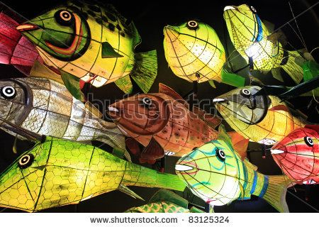 Paper fish lanterns -- good image of structural supports