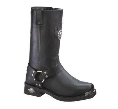 Harley-Davidson® Men's Delinquent Skull Horns Black Leather Harness Boots. D91229 Harley-Davidson. $184.00