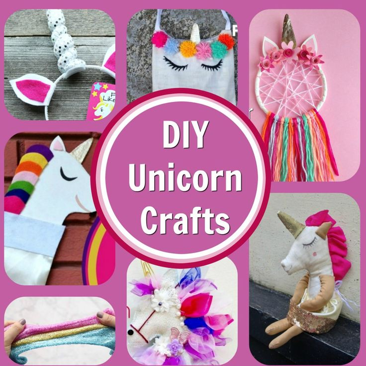 Eight DIY Unicorn Craft Project Tutorials These diy unicorn craft projects are perfect for children and adults. Lots of cute ideas for the unicorn lover in your family! make your own cute unicorn item today! #unicorns #unicorncrafts #diyunicorns #crafts #diy #kidscrafts
