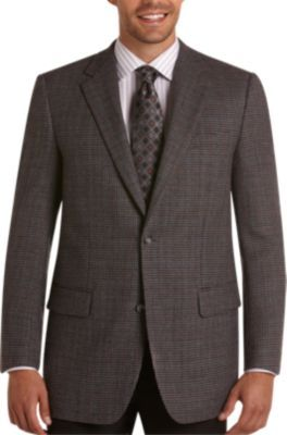 Joseph & Feiss Gold Executive Fit Sport Coat, Gray Check ...
