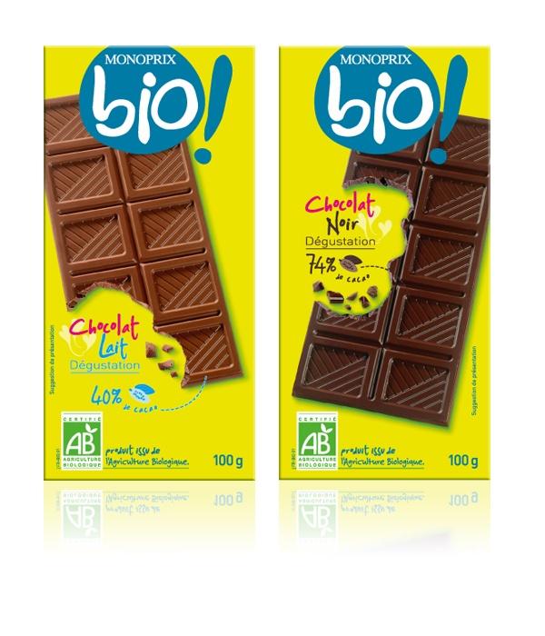 MONOPRIX bio chocolat