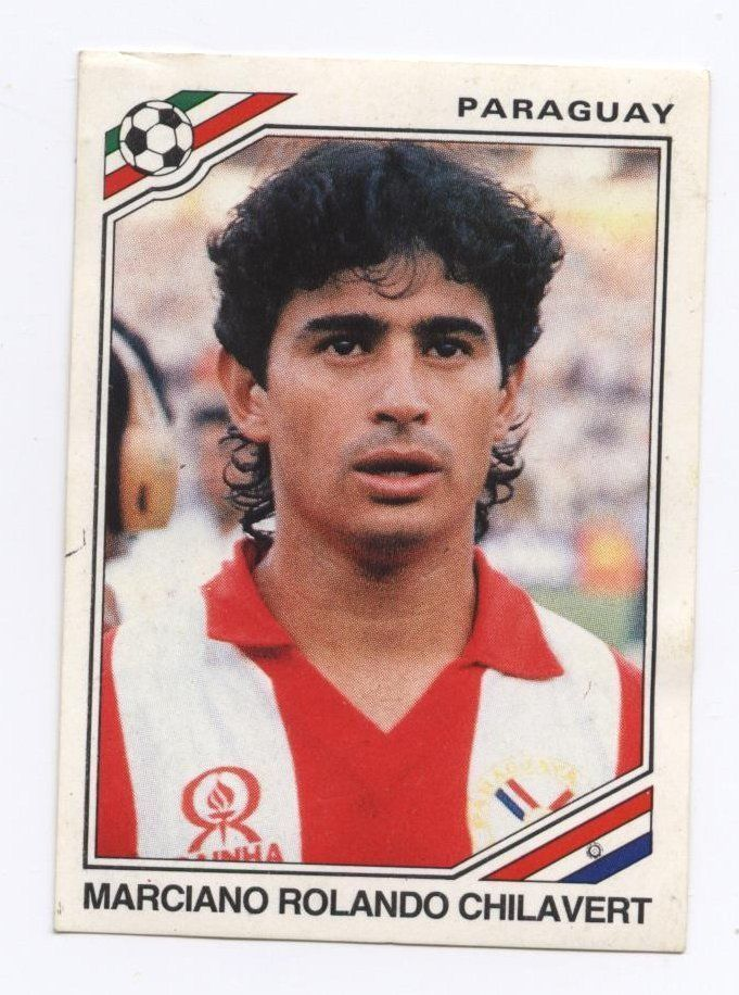 panini sticker mexico 86 world cup paraguay 1986 marciano rolando chilavert #157 from $1.45