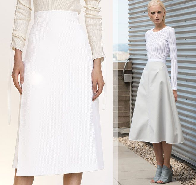 белые юбки Céline, Karolina Zmarlak