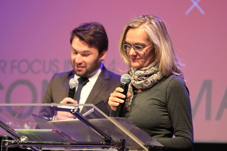 The Filmteractive host - Tomasz Pełczewski and the director of Culture Department (City Council of Lodz) Joanna Ossowska-Struszczyk opening the Festival
