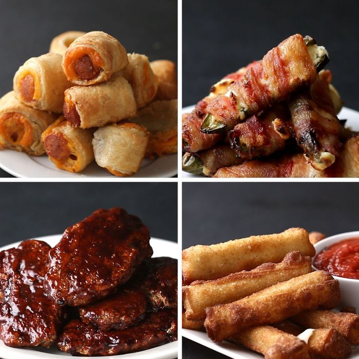 3-Ingredient Appetizers by Tasty: Jalapeño Poppers, Mozzarella Sticks, BBQ Chicken Tenders, Pigs in a Blanket