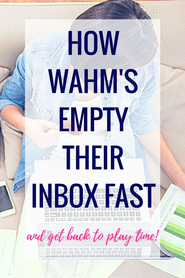 How WAHM's empty their inbox fast! Time Management Tips | Time Management | Time Management Printable | Time Management for Moms | Time Management System | Time Management at Work | Time Management Strategies | Time Management Planner | Time Management Activities | Time Management Schedule | Time Management At home | Time Management Tools | Time Management Worksheet | Time Management Organization | Time Management Template | Daily Time Management | Time Management Chart | Time...