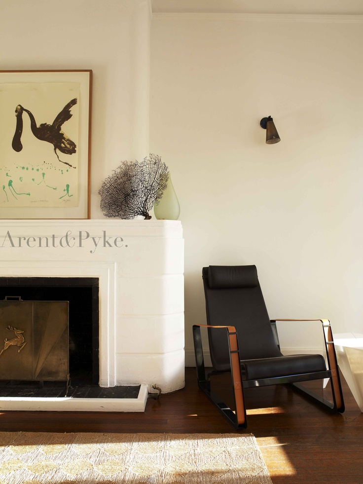 #darlingpoint #living #fireplace #armchair #arentpyke #arent #pyke