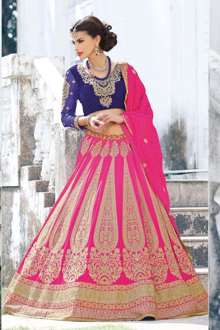 Pink Georgette Bridal Lehenga