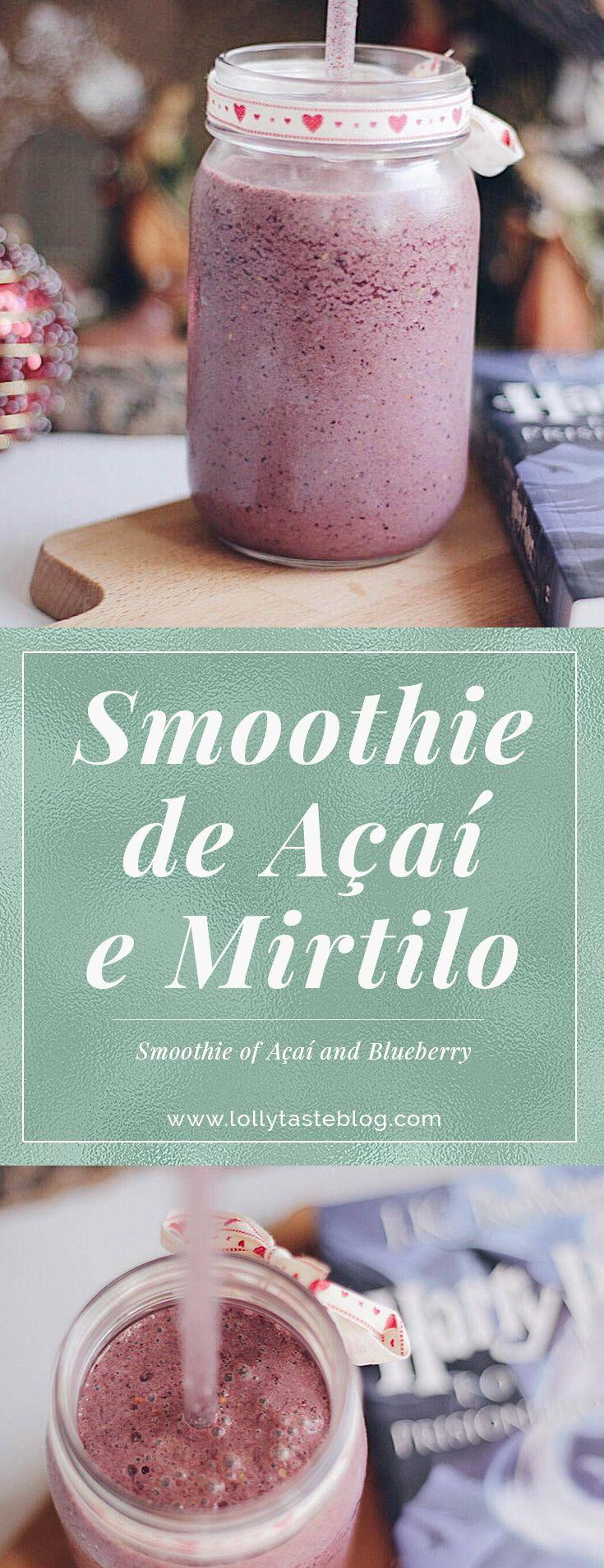 Um delicioso smoothie de açaí e mirtilo inspirado no livro de Harry Potter e que vai reforçar a tua imunidade. #healthyjuice #detoxjuice #blueberryjuice #sumodetox #healthysmoothierecipe