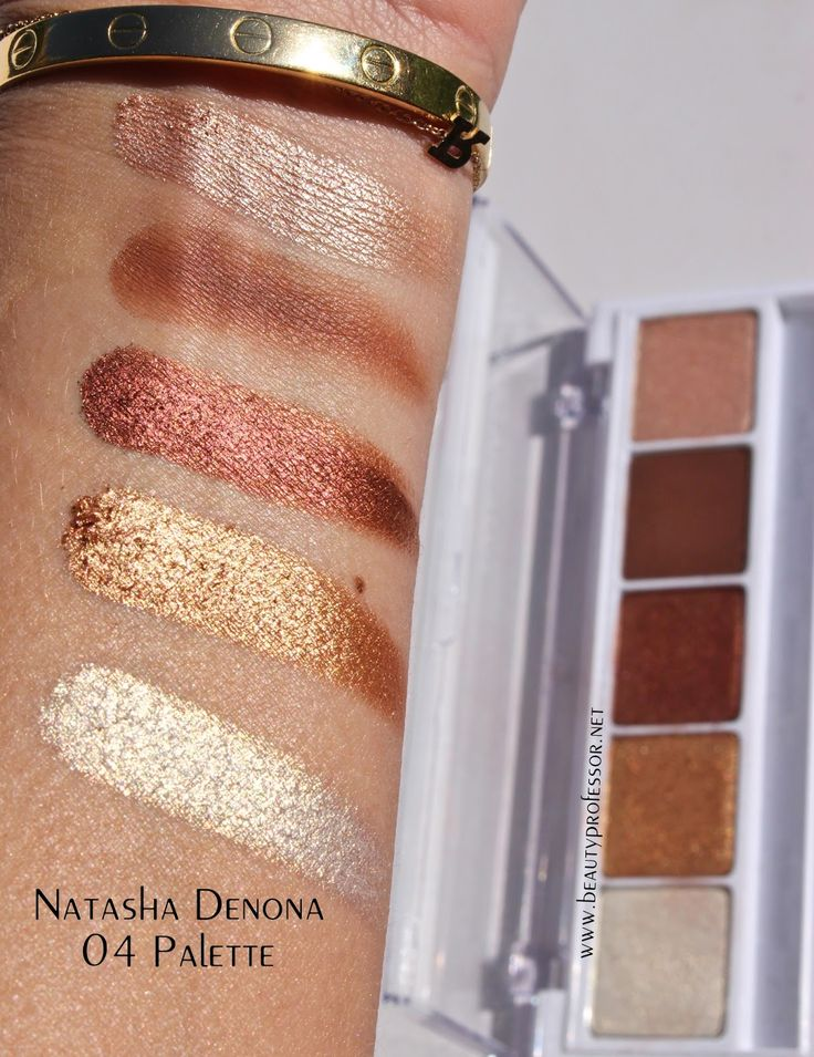 natasha denona eyeshadow swatches-no 4 palette