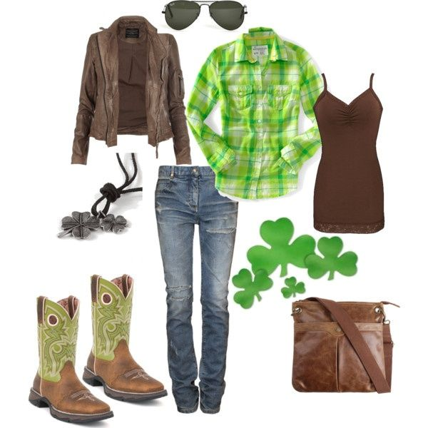 63158473096b2c saint patty's day outfits   St. Patrick's Day Outfit featuring Durango  Boots   My kinda style   appearances are everything   Outfits, St patrick's  day ...