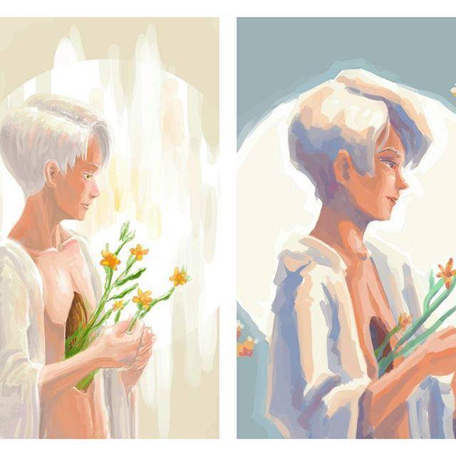 Did a speed paint remaking one of my earlieat digital painting :> #art #mangaart #mangadrawing #manga #anime #animeart #animedrawing #drawing #illustration #doodle #cartoon #sketch  #artistspotlight #animearthelps #instaart #digital #painting