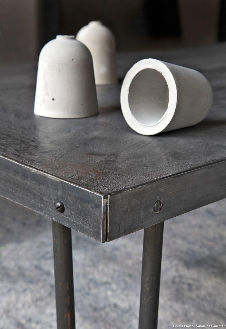 1000 id es sur le th me table en b ton sur pinterest for Mettre du beton cire