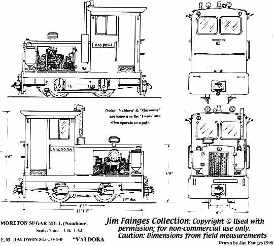 Moreton Mill (Nambour) E M Baldwin 0-4-0 diesel locomotive