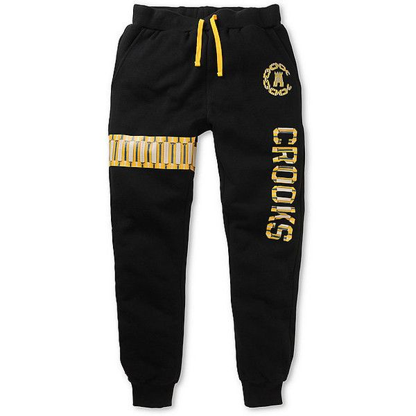 Crooks and Castles Villa Jogger Pants ($75) ❤ liked on Polyvore featuring activewear, activewear pants, pants, bottoms, sweats, crooks & castles and logo sportswear