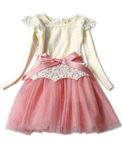 Kids Toddler Girls Party Long Sleeve Bow Lace Formal Dress Tulle Tutu Skirt (140(Advice4-5Years), pink) ACEFAST INC http://www.amazon.com/dp/B00MFKXABO/ref=cm_sw_r_pi_dp_Cl.dub01X5JV7