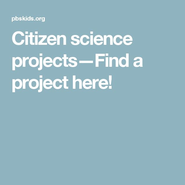 Citizen science projects—Find a project here!