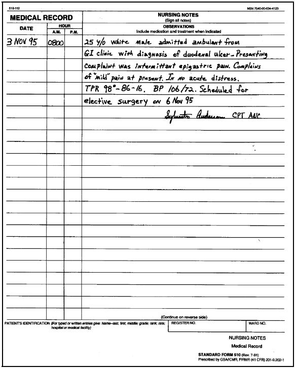 4133e2ad18d6410f3d6d819ba6d42ca4 Example Of Patient Doentation Forms on medical history chart, chart notes, registration form, family history, welcome letter, dismissal letter, care experience, complaint letter, progress note, care tech resume, history taking, social history,