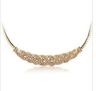 CN46 Luxury Czech rhinestone elegant waltz female short clavicle Chain Necklace  Y330-5 50D US $2.44