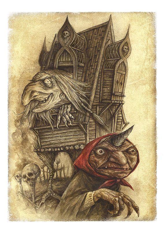 Baba Yaga ou Baba Roga é um personagem haggish ou witchlike no folclore eslavo. Ela voa em torno de um pilão gigante, sequestra (e presumivelmente come) crianças pequenas. Na maioria dos contos populares eslavos, ela é retratada como um antagonista; No entanto, alguns personagens em outras histórias folclóricas mitológicas têm sido conhecida a procurá-la por sua sabedoria, e ela tem sido conhecida em raras ocasiões, para oferecer orientação às almas perdidas.