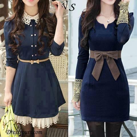 vestidos azules