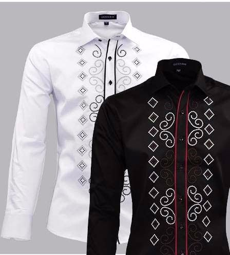 fashion male 100% pure cotton long-sleeve slim shirt  http://mobwizard.com/product/fashion-male-100-pu32232756380/