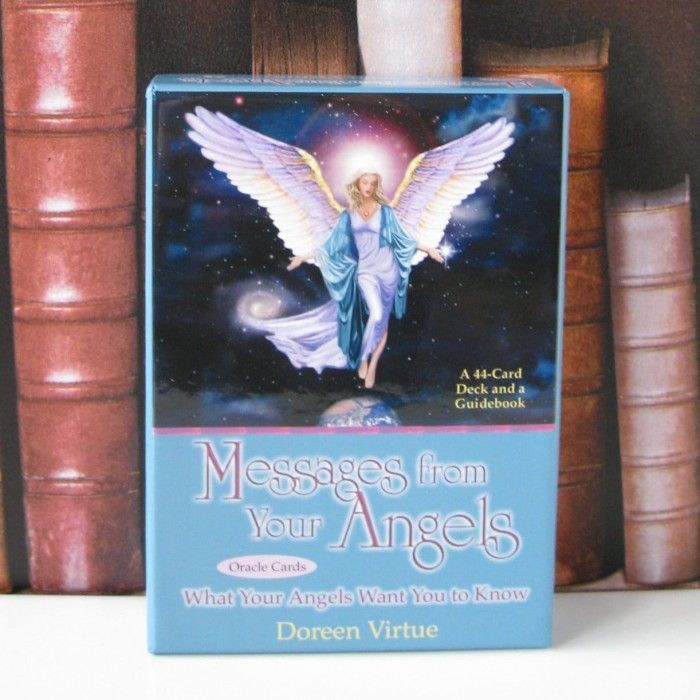 Messages From Your Angels Oracle Cards.  These beautifully illustrated oracle cards makes it easy for you to give an Angel reading to yourself or to others. Each of the 44 cards features a gorgeous Angel painting with a one or two sentence message. These cards also come with a guide book that helps give you an extended message and interpretation from the Angels.