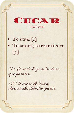 Cucar, verbo - verb.