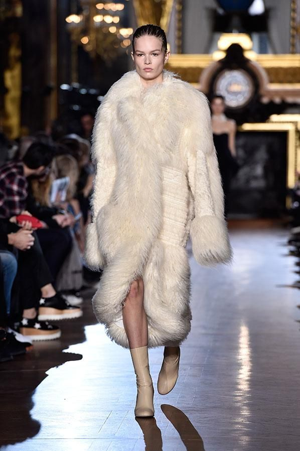 "Stella McCartney unveiled a  ""fur-free fur"" collection at Paris Fashion Week:"