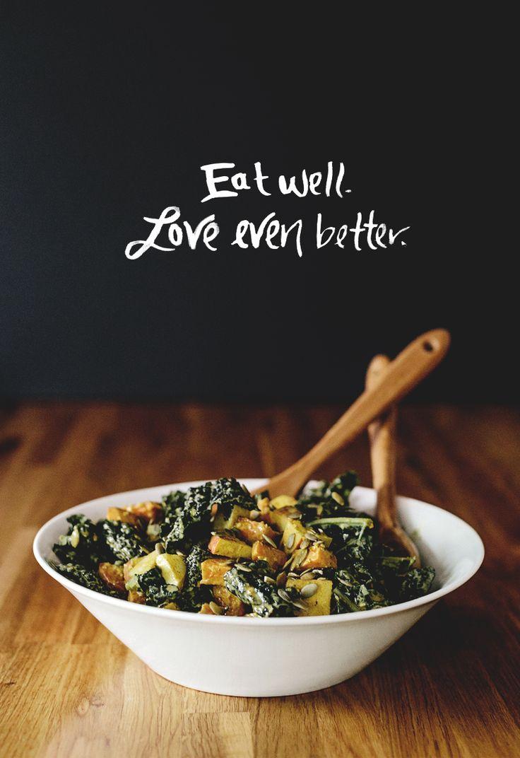 Kale Salad with Tahini Dressing  |  The Fresh Exchange