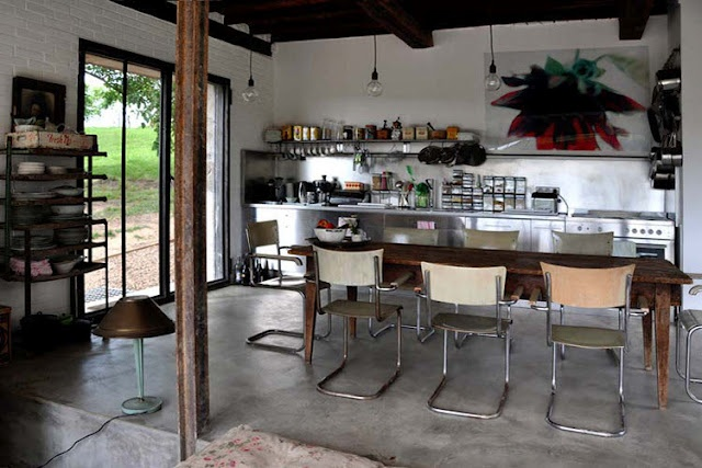 Very cool.French Farmhouse, Barns Kitchens, Rustic Kitchens, Interiors Design, Josefin Interiors, Farmhouse Kitchens, Open Kitchens, Modern Kitchens, Interior Desinger