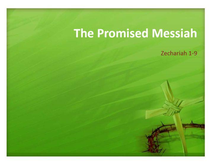 Bible study guide zechariah ppt