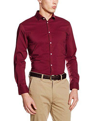 #ESPRIT #Collection #Herren #Business #Hemd #096EO2F003, #Rot #(Garnet #Red #620), #Kragenweite: #35 cm #(Herstellergröße: #35-36)