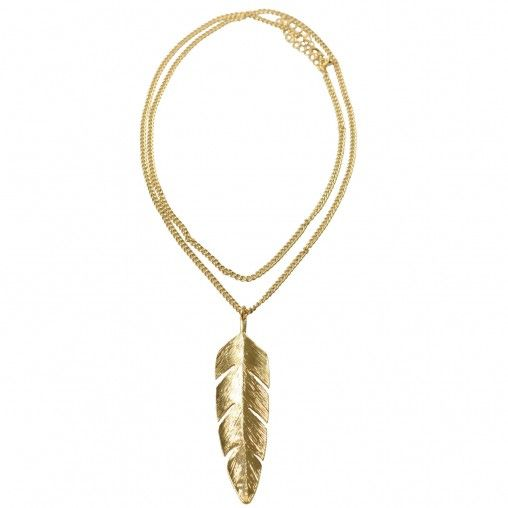 SACHA // Golden feather necklace € 6,95 #necklace #gold #feather #accessories