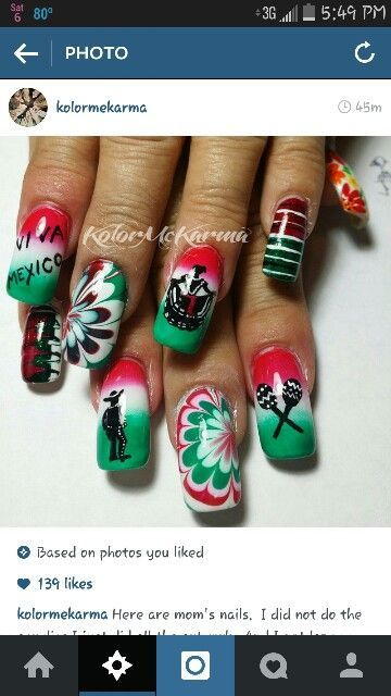 The 25 best mexican nails ideas on pinterest skull nails art mexican nail designslove it prinsesfo Gallery