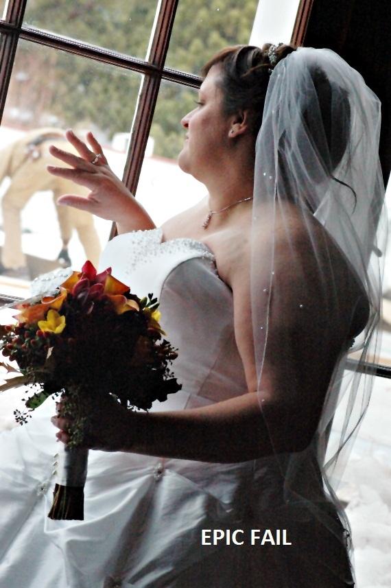 Epic wedding photo fail