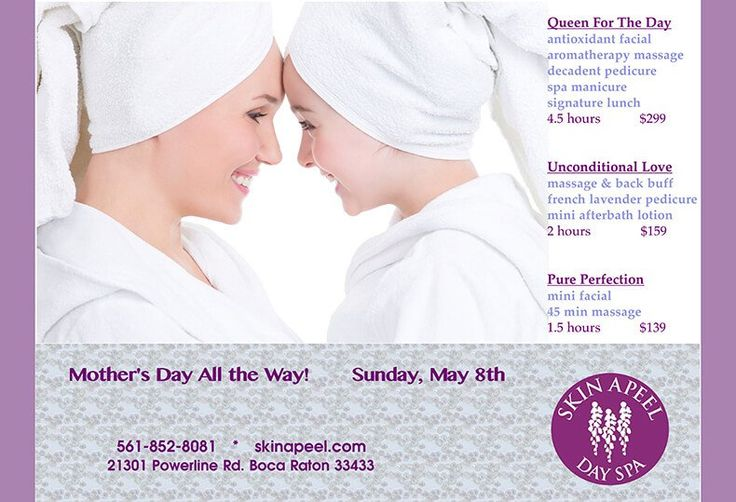 Mother's Day is approaching, and many people will celebrate their moms by gifting a day of indulgence at a Day Spa. At our Boca Raton Day Spa, we have celebrated many Mother's Days throughout the years. With special packages featuring a sample of our best services, we strive to...