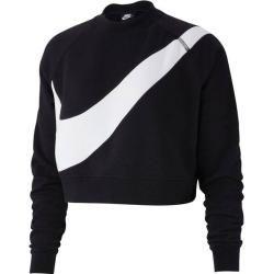 Nike Damen Sweatshirt Swoosh, Größe S in Schwarz NikeNike