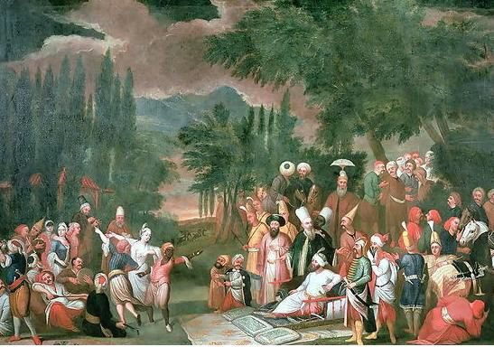 A Turkish Hunting Party with Sultan Ahmed III, Jean Baptiste Van Mour