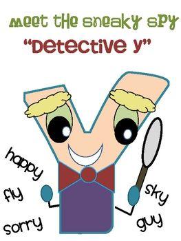 "Freebie: Meet Detective- Y as Long ""E"" and Long ""I"""