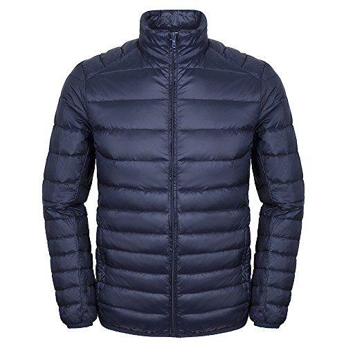 Faston ライト ダウン ジャケット メンズ 超軽量 カジュアル 防寒 暖かい 秋 冬 ウルトラライト コート…