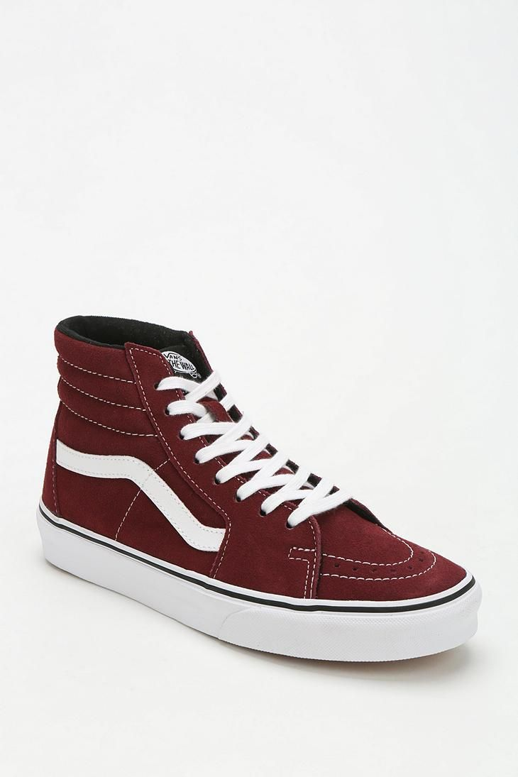 vans hightops black and red