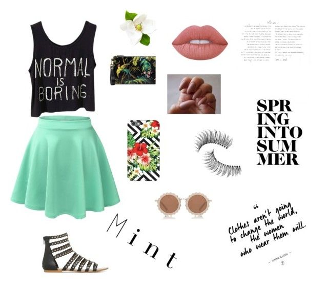 """""""Untitled #23"""" by aliza-ahmed on Polyvore featuring LE3NO, Gucci, House of Holland, Lime Crime and Trish McEvoy"""
