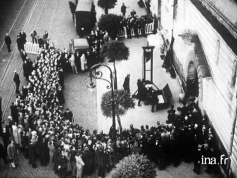 The execution of Eugen Weidmann in 1939