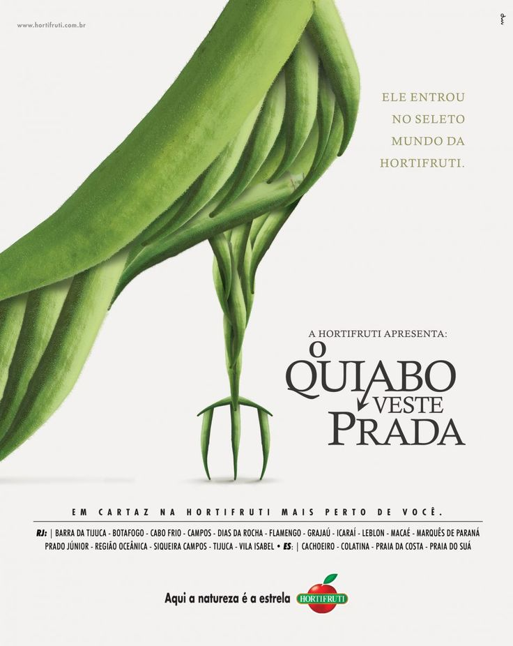 Hortifruti faz trocadilhos de legumes e filmes da Netflix