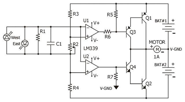 solar tracker schematics