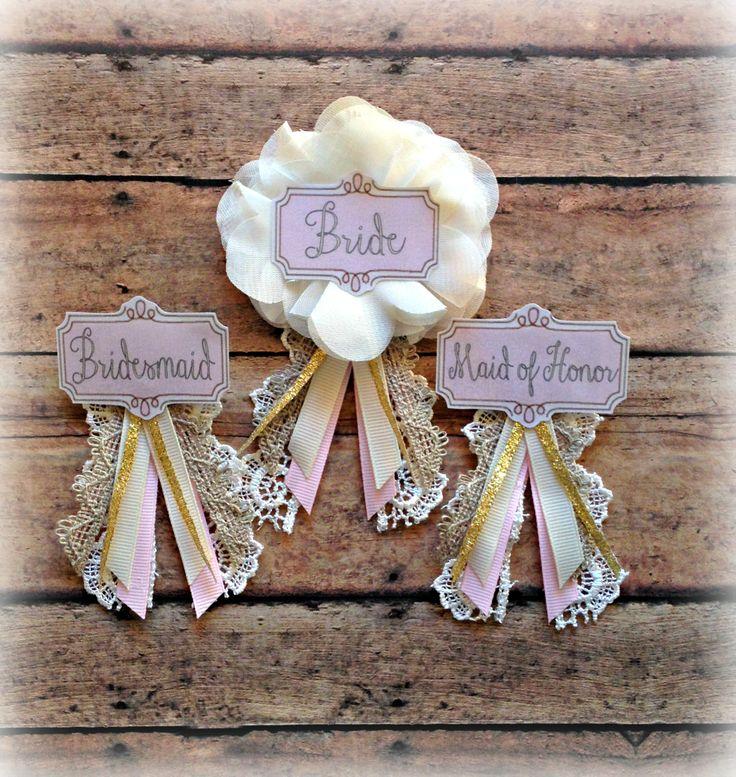 Vintage-Inspired Bridal Badge : EllieKattCollection.Etsy.com