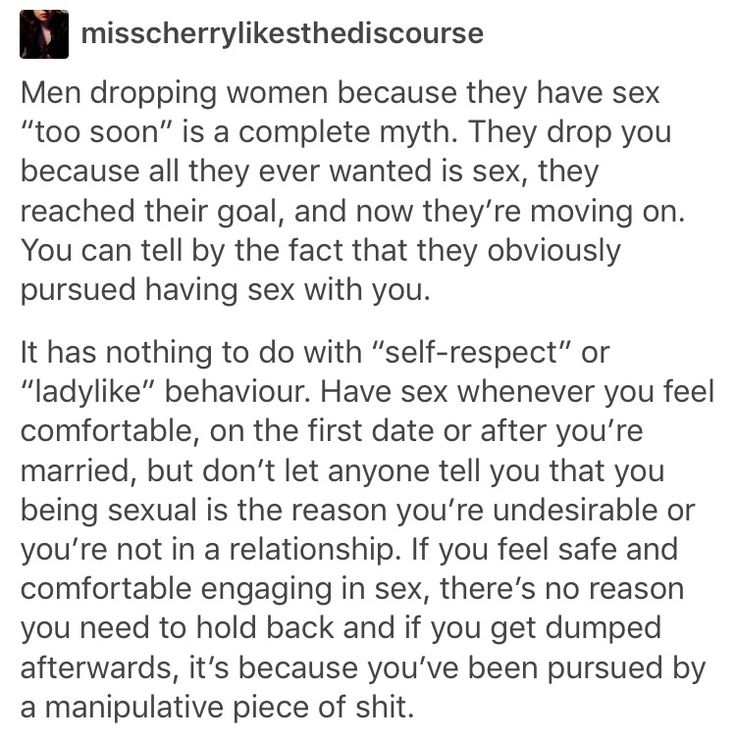 I personally don't agree with having sex whenever, but everything else I agree with